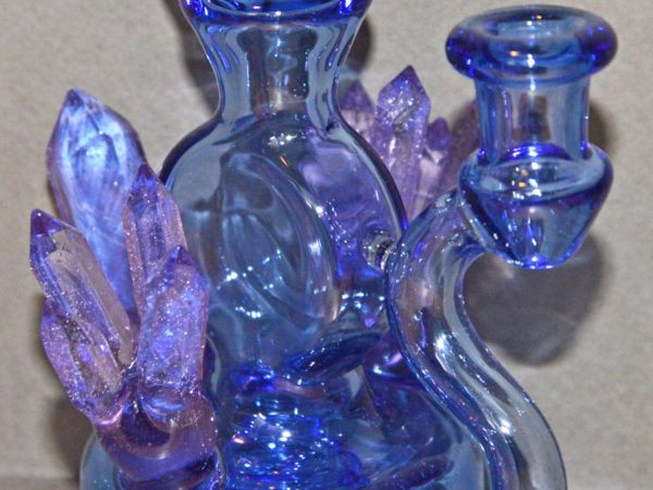 Blue Crystal Bubbler